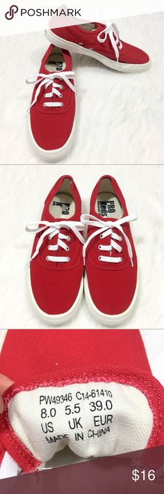f4f565209 Pro Keds Cherry Red Canvas Tennis Shoes Sneakers 8 Brand  Keds Style  Name Number