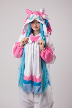 Sylveon kigurumi by yotsubanoclover on Etsy