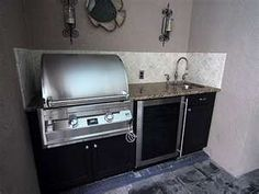 Small outdoor kitchen still packs a big punch..