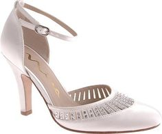 Nina Women's Lilias Two Piece Shoes,White Dyeable Satin,6.5 M US Nina,
