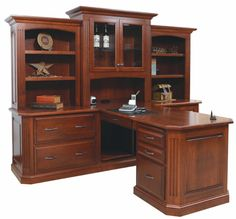 Amish Buckingham Partner Desk with Three-Piece Hutch Luxury Office Collection Our gloriously handcrafted Amish Buckingham Partner Desk with Three-Piece Hutch provides ample storage space that everyone will find useful. Home Office Furniture, Desk Styling, Home Office Decor, Furniture Sale, Furniture, Partners Desk, Office Design, Home Decor, Luxury Office