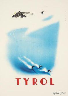 Travel Poster - Tyrol - Austria - by Arthur Zelger.