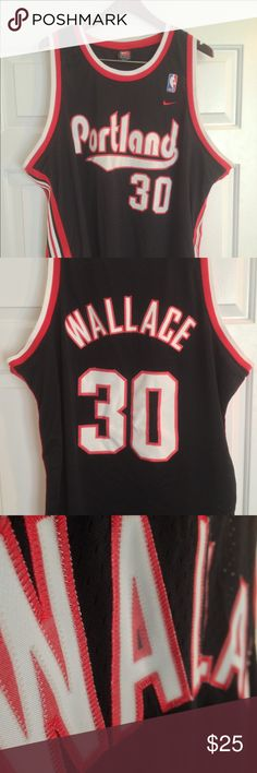 Nike Portland Trailblazers Rasheed Wallace Jersey Excellent Condition • Sewn Numbers/Letters • 3XL Nike Shirts Tank Tops