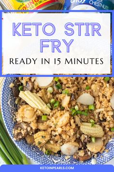 This blog post is going to teach you how to make a nutrient dense keto stir fry with cauliflower rice. This keto stir fry recipe is only takes 15 minutes to whip up and is completely customizable to your family's preferences. #keto #ketodinner #ketorecipes Low Carb Dinner Recipes, Keto Dinner, Lunch Recipes, Keto Recipes, Healthy Recipes, Keto Stir Fry, Ham Casserole, Low Carb Veggies, Cauliflower Rice
