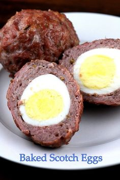 Baked Scotch Eggs #Paleo #low-carb #highprotein I think these would also be good with BREAKFAST sausage :)