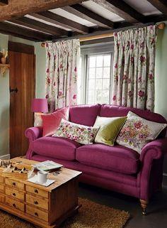 Φωτεινοί ροζ και πράσινοι συνδυασμοί χρωμάτων για την διακόσμηση σπιτιού, σε ρομαντικό στυλ!!