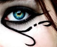 wow awesome Eye of Horus makeup idea ♥ tribal-like but beautifully Egyptian  https://www.facebook.com/photo.php?fbid=325857650861231=a.279800642133599.61778.279711098809220=1