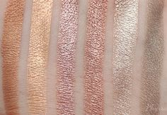 Anastasia Beverly Hills Eyeshadow L to R – Amber, Peach Sorbet, Pink Champagne, Rose, Metal, Victorian