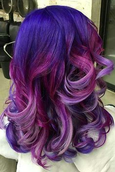 Different shade purple dyed hair color inspiration idea