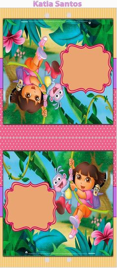 dora the explorer: free printable invitations, boxes and party, Birthday invitations