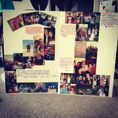 21st birthday idea! take a picture of everyone at the party and make a poster out of it to give to the bday person later!