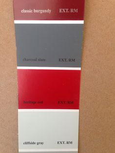 """paint color is benjamin moore's """"heritage red"""" - the perfect red"""