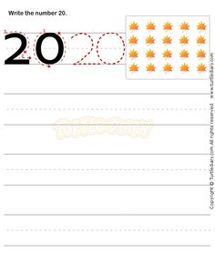 Number Writing Worksheet 20 - math Worksheets - preschool Worksheets