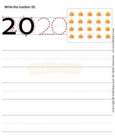 Number Writing Worksheet 20 - math Worksheets - preschool Worksheets
