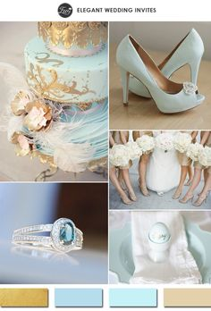 light blue and gold wedding color ideas for 2015 spring summer weddings