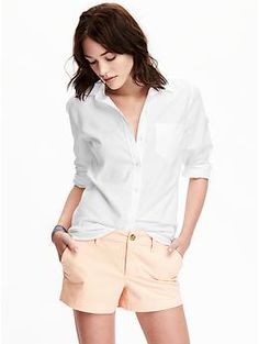 Classic Oxford Shirt | Old Navy - Medium - Bright White, New Blue