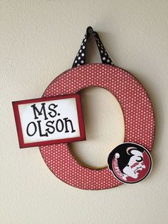 Super-Duper Embellished Letters: cute & custom made for coach weddings engagement baby teachers holidays birthdays gifts Florida State. $25.00, via Etsy.