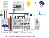 Esquemas eléctricos: Conexión cableado de contactor día noche caldera