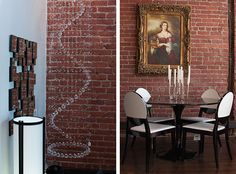 Our feature on Alejandro Lopez Interiors - he has great ideas on mixing textures & lines near exposed brick.