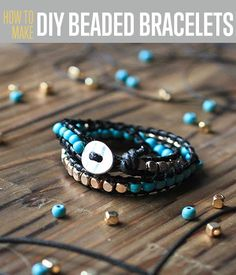 Want to make a DIY Beaded Bracelet? Follow our easy step by step tutorial and instructions for simple DIY jewelry making. Cool, creative DIY fashion idea.