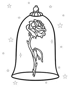 Stain Glass Rose Beauty And The Beast Window Vinyl Decal Car