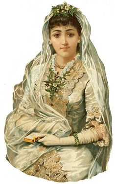 Victorian ephemera...bride...