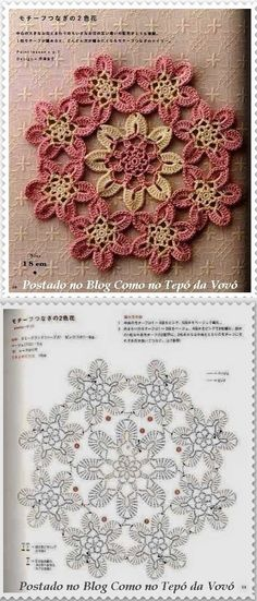 #63_ROSE Lace Doily Motif and chart