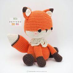 Amigurumi Fox, Amigurumi Patterns, Crochet Patterns, Diy Crochet Amigurumi, Double Crochet Decrease, Half Double Crochet, Single Crochet, Crochet Fox, Crochet Animals