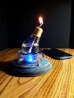 Steampunk/ mini light bulb oil* lamp by ResinStore on Etsy