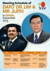 Meeting Schedule of Dato Dr. Lim & Mr. Jijith N. K.