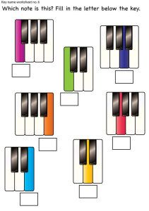 Piano Key Name Worksheets for Piano Students - Colourful Keys My Music Teacher, Music Teachers, Piano Lessons For Kids, Music Education Activities, Music Worksheets, Preschool Music, The Piano, Elementary Music, Elementary Schools