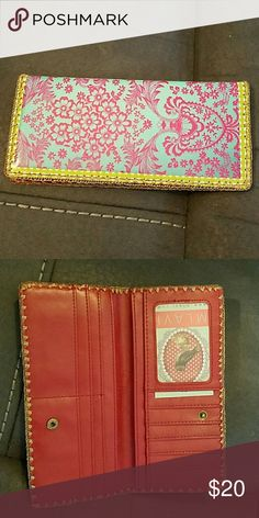 MLAVI Gabriela Mexican oilcloth vegan wallet NEW Made with SGS tested toxic-free faux/vegan leather, this wallet is feature American textile pattern inspired print. Exterior: Faux leather; Interior: Microfiber (peach skin polyester); - 1 photo ID pocket  - 11 card slots  - 1 built-in zipper pocket for change or receipts  - 4 inside long slots for cash or a checkbook  - Snap closure enables easy open and close  Measurement: 9 x 19 x 1.5 cm / 3.5 x 7.5 x 0.6 inch mlavi Bags Wallets
