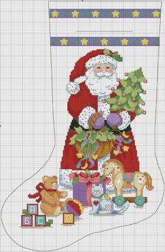 Brilliant Cross Stitch Embroidery Tips Ideas. Mesmerizing Cross Stitch Embroidery Tips Ideas. Cross Stitch Christmas Stockings, Cross Stitch Stocking, Christmas Stocking Pattern, Xmas Cross Stitch, Xmas Stockings, Cross Stitch Kits, Christmas Cross, Cross Stitch Charts, Cross Stitch Designs