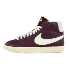 new concept c058c a29f0 Nike Womens Blazer Mid Leather Vintage in Bordeaux Nike Blazers, Skate  Style, Old School
