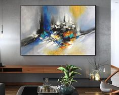 Modern Abstract acrylic large painting on canvas original art extra Large wall art Home Decor Hand Painted Nordic quadro cuadros abstractos Bull Painting, Large Painting, Oil Painting Abstract, Acrylic Painting Canvas, Canvas Art, Black Painting, Art Original, Original Paintings, Van Gogh