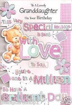 Happy Birthday to a special Granddaughter Quality Birthday Card
