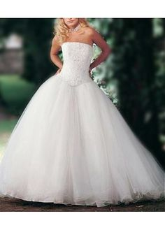 LACE BRIDESMAID PARTY BALL EVENING GOWN IVORY WHITE FORMAL PROM TULLE STRAPLESS WEDDING DRESS