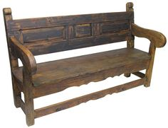 mexican benches | Rustic Old Door Mexican Colonial Bench
