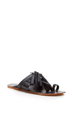 Navy Scaramouche Sandal by FIGUE for Preorder on Moda Operandi