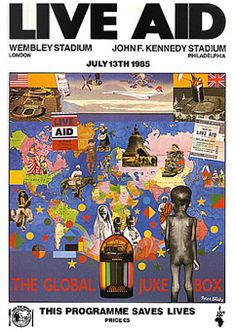 Live Aid Programme by Peter Blake