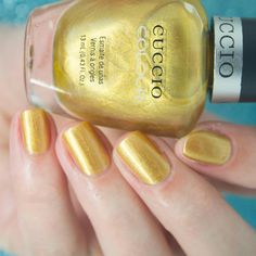"""Elaine 💅🏻 on Instagram: """"Today I have swatches of the newest @meeboxuk Aphrodite. First up I have this warm toned gold from @cucciocolour Russian Opulence. I used…"""" Striping Tape, Aphrodite, Swatch, Venus, Warm, Gold, Instagram, Beauty, Beleza"""