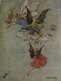The Sunset Fairies by Florence Mary Anderson  ex www.beeswingprints.com