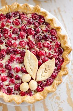 Cranberry Orange Custard Pie is a festive and unique pie to enjoy during the holiday season with a flaky pie crust, silky sweet custard and cranberries.