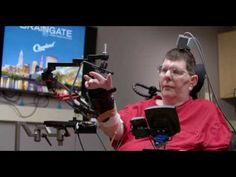 Paralyzed man feeds himself for the first time in eight years after implanted sensors.