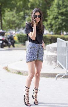The best street style looks from Paris Fashion Week | #BarbaraMartelo #StreetStyle #LaceUpHeels