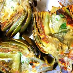 Grilled Artichokes @keyingredient #cheese