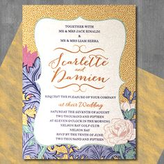 Floral Wedding Invitations, Wedding Stationery, Invites, Card Companies, Van Gogh, Rsvp, Indigo, Special Occasion, Blues