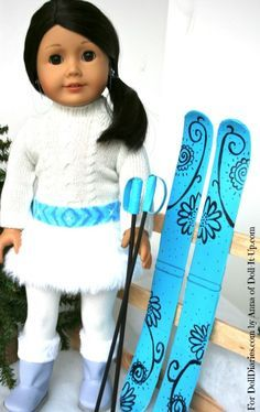 How to make doll skis---A. Adorable! B. Could totally sell these C. Ooh! I know some little girls who would go crazy for these!