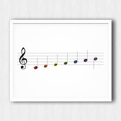 PRINTABLE - Music Notes in Colour - Download - Homeinametronome