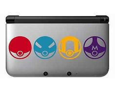 Nintendo 3DS XL Pokemon Pokeballs Vinyl Decal Sticker